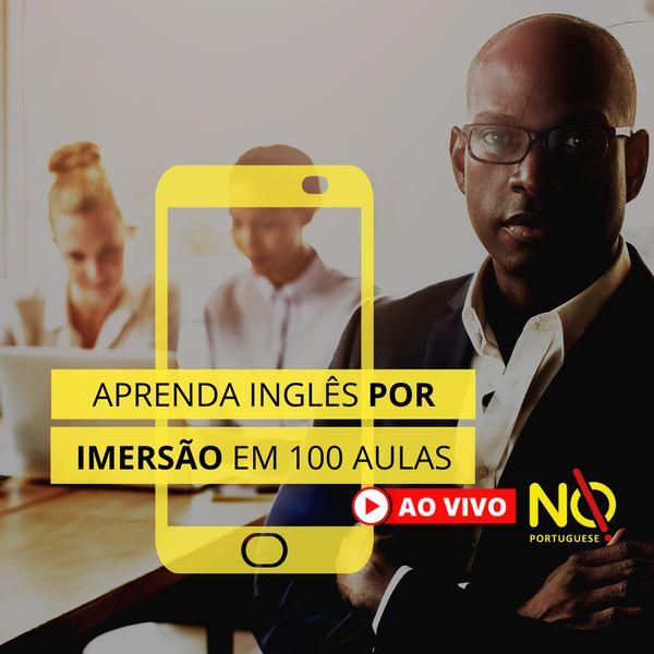 Imagem principal do produto Aprenda inglês por imersão em 100 aulas - Ao Vivo - Começando do 0