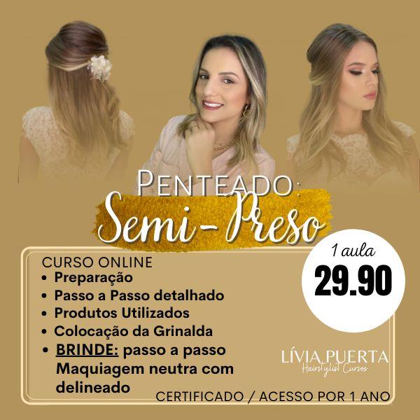 Imagem principal do produto Curso de Penteado - Semi-Preso