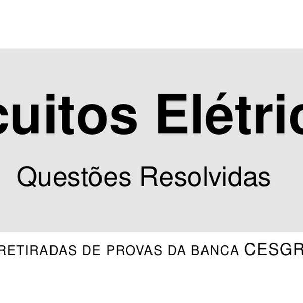 Imagem principal do produto Electrical Circuits - Exercises with solutions