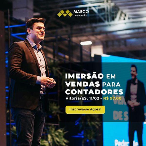 Imagem principal do produto Imersão em Vendas para Contadores - Edição Belo Horizonte/MG