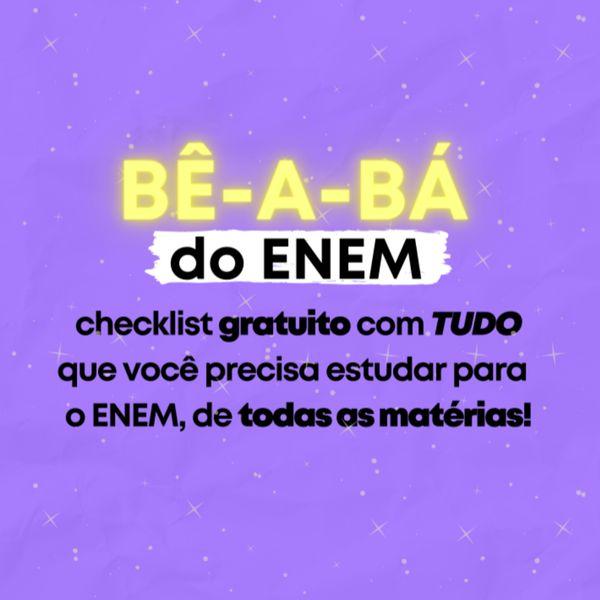 Imagem principal do produto BÊ-A-BÁ DO ENEM