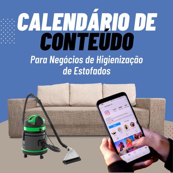Imagem principal do produto Calendário de Conteúdo Para Negócios de Higienização de Estofados