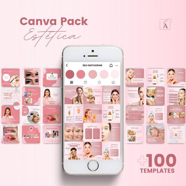 Imagem principal do produto Canva Pack Estética