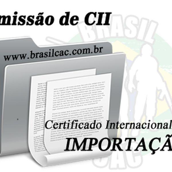 Imagem principal do produto Emissão de CII - Certificado Internacional de Importação