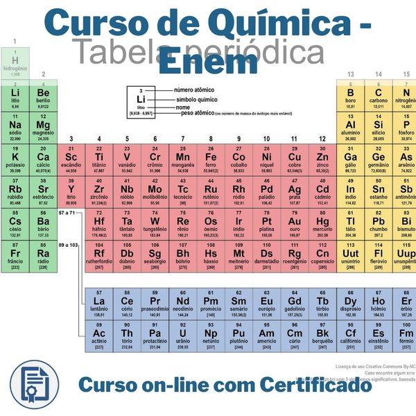 Imagem principal do produto Curso de Química - Enem