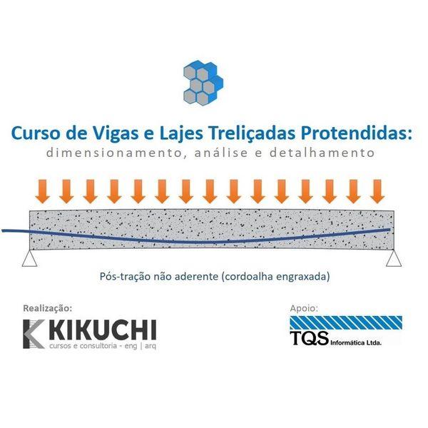 Imagem principal do produto Curso de Lajes Treliçadas e Vigas Protendidas: dimensionamento, análise e detalhamento