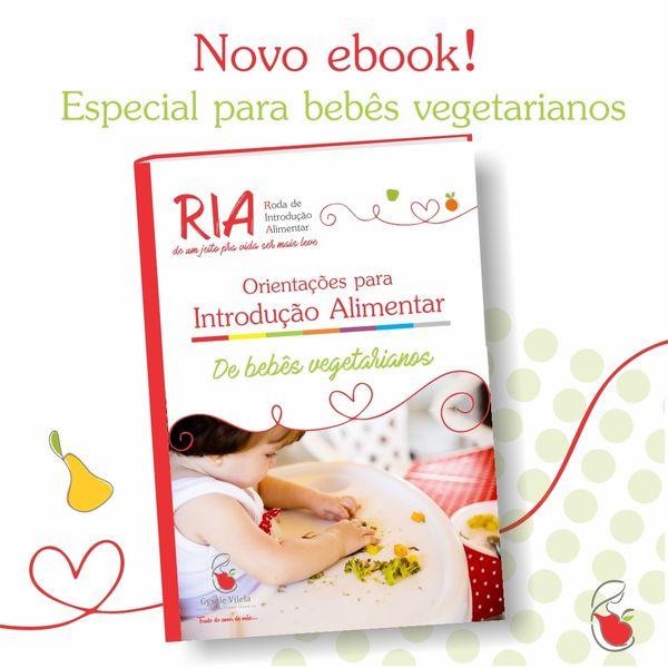 Imagem principal do produto Ebook de Introdução Alimentar para Bebês Vegetarianos
