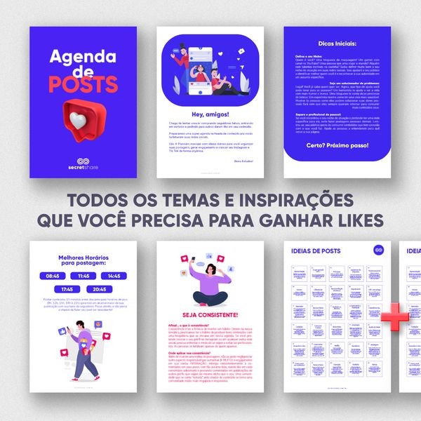 Imagem principal do produto Agenda de POSTS - 120 Ideias para o Seu Instagram