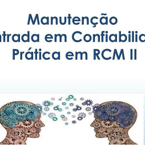 Imagem principal do produto RCM - Manutenção Centrada em Confiabilidade