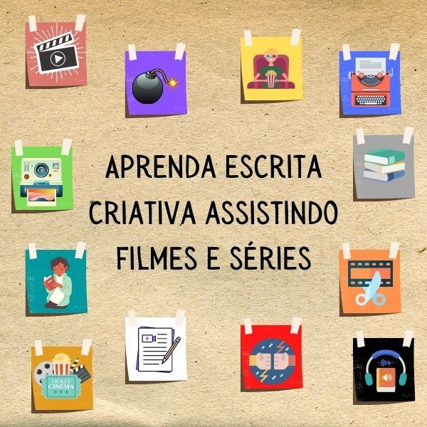 Imagem principal do produto Aprenda Escrita Criativa Assistindo Filmes e Séries
