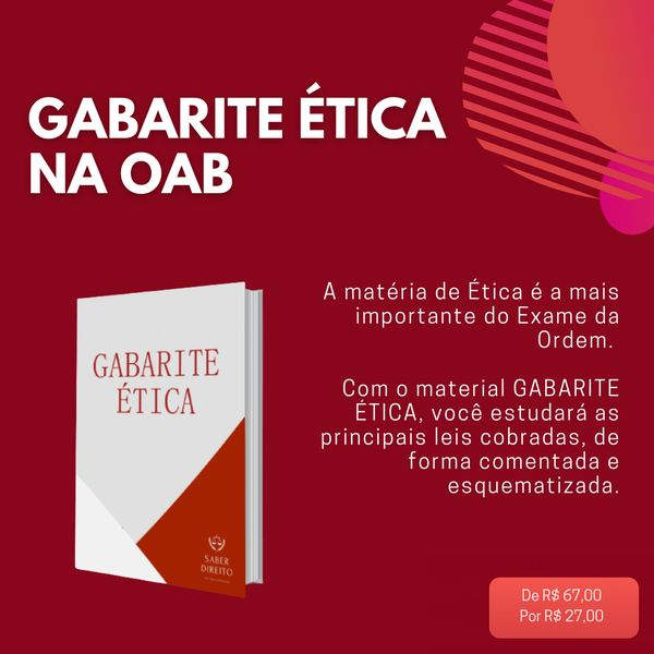 Imagem principal do produto GABARITE ÉTICA - Legislação de Ética Esquematizada e Comentada