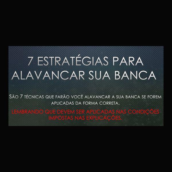 Imagem principal do produto 7 Estratégias para alavancar sua Banca