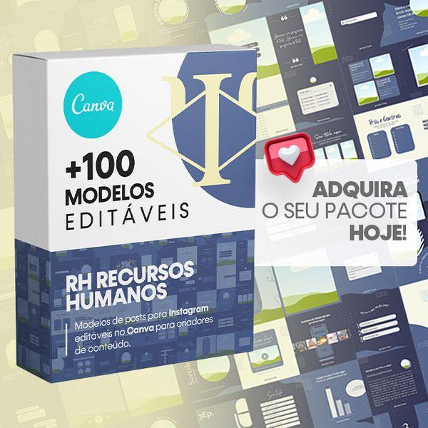 Imagem principal do produto Canva +100 Templates RH Recursos Humanos Para Instagram