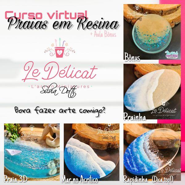 Imagem principal do produto CURSO VIRTUAL: Praias em resina + Aula Bônus!!!