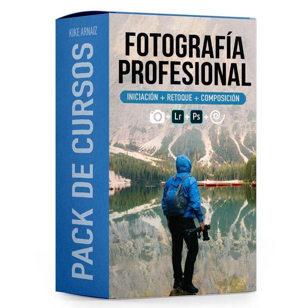 Imagem principal do produto PACK Cursos de fotografía. Iniciación + Retoque + Composición