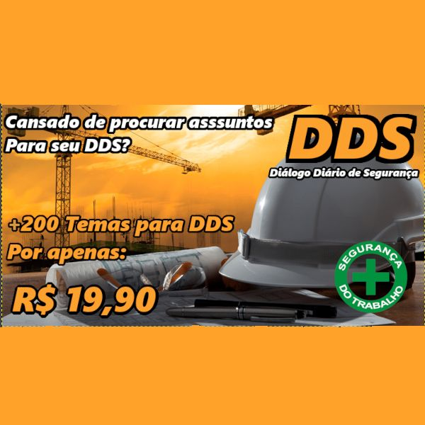 Imagem principal do produto Mais de 200 Temas para DDS-Dialogo Diário de Segurança