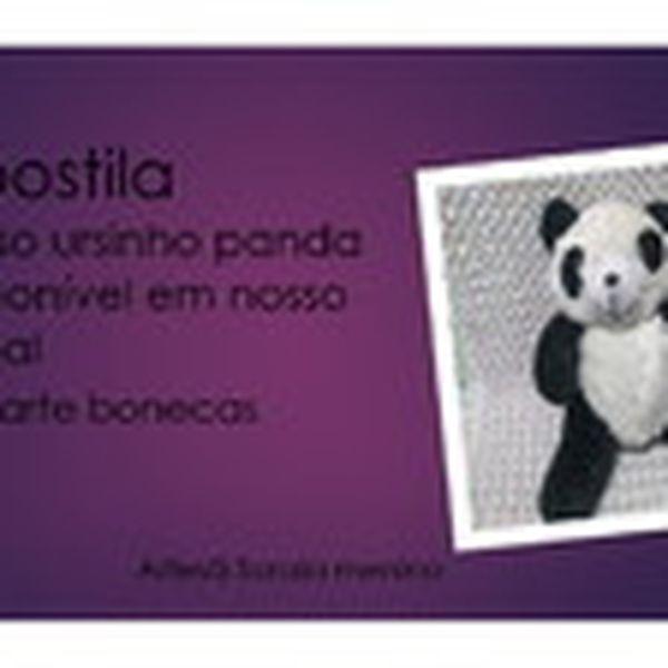 Imagem principal do produto apostila com os mods do curso ursinho panda