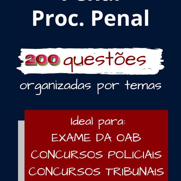 Imagem principal do produto 2ª Fase OAB - Penal e Processo Penal em 200 questões
