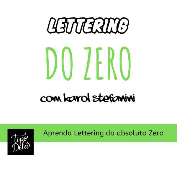 Imagem principal do produto Lettering para Iniciantes - Método TipoDela by Karol Stefanini (90% Desconto)