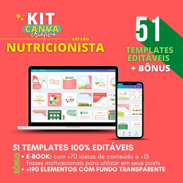 Imagem principal do produto KIT CANVA CRIATIVO ♥ (Nutricionista)