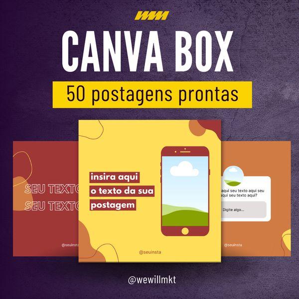 Imagem principal do produto CANVA BOX - 50 postagens prontas para bombar seu instagram.