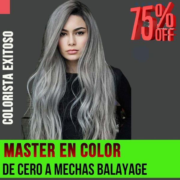 Imagem principal do produto Master en colorimetria  de Cero a Decoloraciones, Mechas blayage y efectos de color