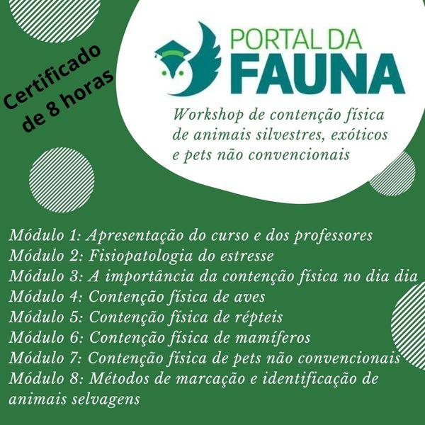 Imagem principal do produto Contenção Física de Animais Silvestres, Exóticos e Pets não convencionais