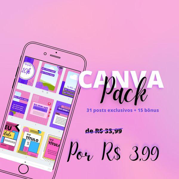 Imagem principal do produto CANVA PACK CRIATIVO