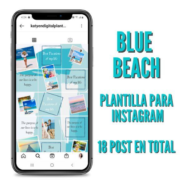 Imagem principal do produto BLUE BEACH PLANTILLAS EDITABLES