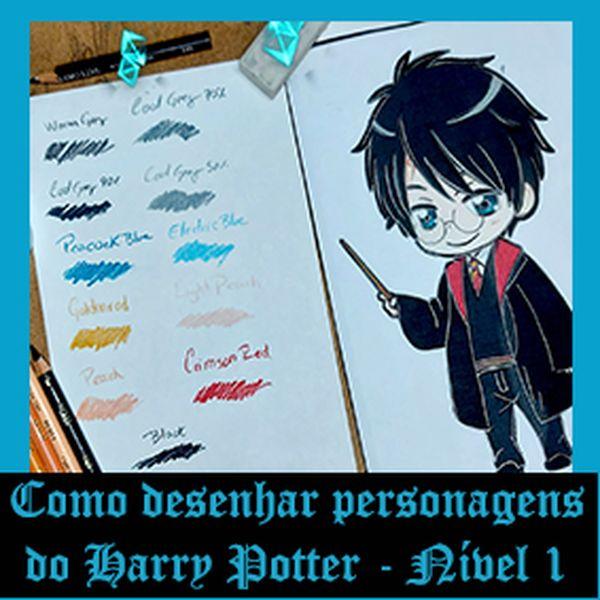 Imagem principal do produto Como Desenhar os personagens do Harry Potter - Nível 1