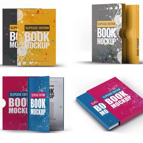 Imagem principal do produto Capa e-Book Magnético - Kit 4 Book Cover Mockups #11 - PSD 100% Editável
