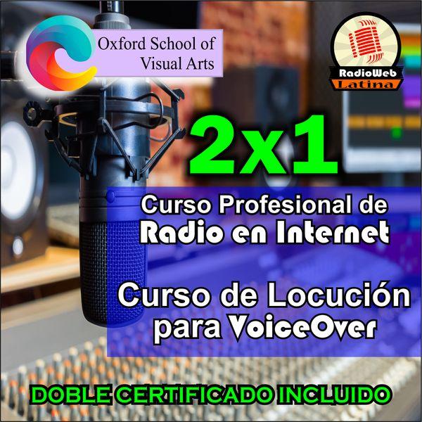 Imagem principal do produto 2x1 / Curso Profesional de Radio en Internet + Curso de Locución para VoiceOver