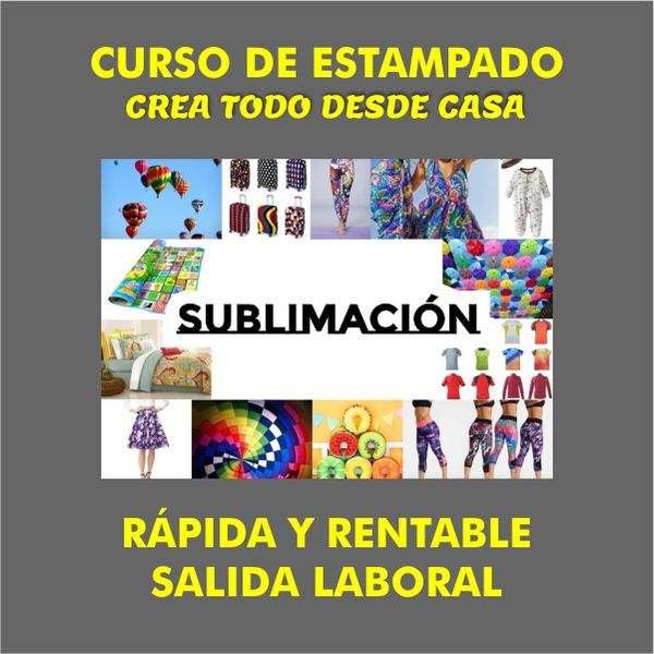 Imagem principal do produto Curso de estampado, fácil y rentable salida laboral CREA TODO DESDE CASA