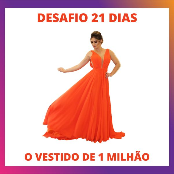 Imagem principal do produto DESAFIO 21 DIAS - MEU PRIMEIRO VESTIDO DE 1 MILHÃO