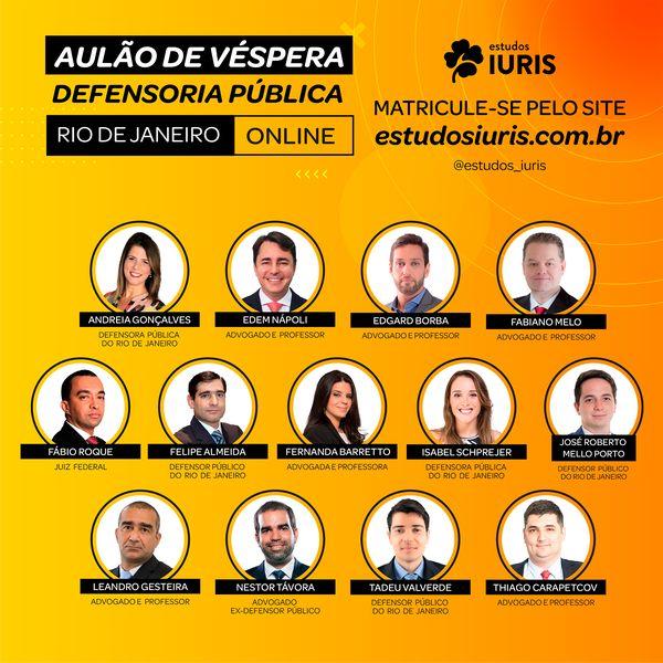 Imagem principal do produto AULÃO DE VÉSPERA - DEFENSORIA PÚBLICA DO RIO DE JANEIRO