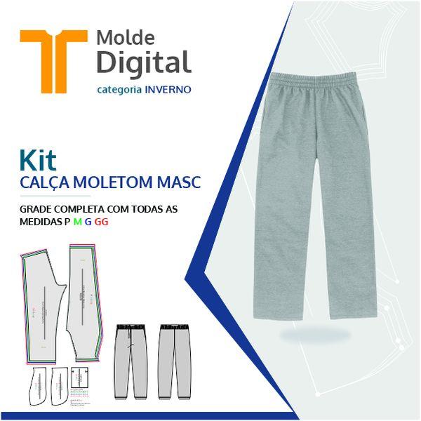 Imagem principal do produto kit molde Digital Calça Moletom Masc
