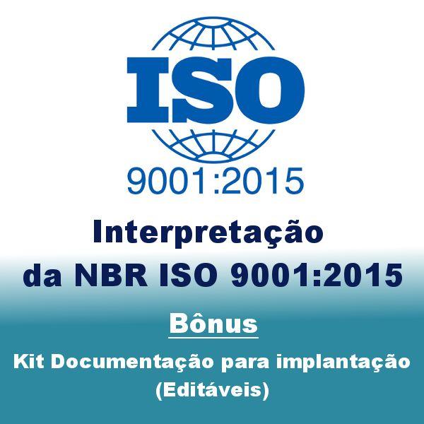 Imagem principal do produto Interpretação ISO 9001:2015 - Bônus Kit Documentação