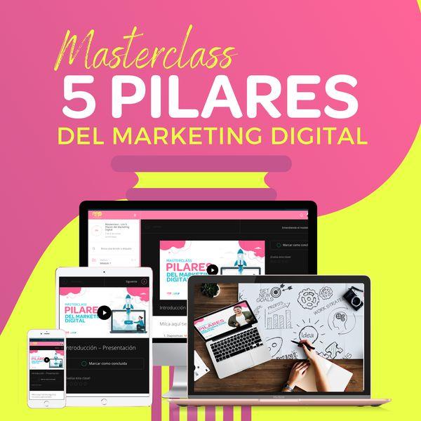 Imagem principal do produto Masterclass - Los 5 Pilares del Marketing Digital