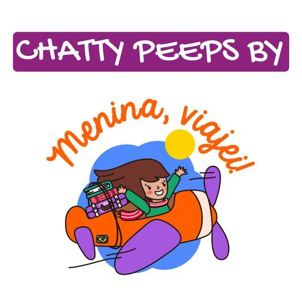 Imagem principal do produto Chatty Peeps English Speaking Practice by Menina, viajei! | Curso Prático de Conversação em Inglês