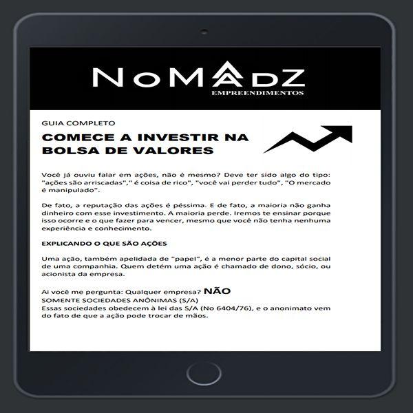Imagem principal do produto GUIA COMPLETO - COMECE A INVESTIR NA BOLSA DE VALORES